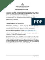 Formulario creación de Grupos de Trabajo Exchange