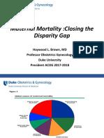 PQCNC OBH Kickoff CMOP Learning Session - Maternal Mortality Closing the Gap 2017