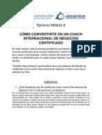 Ejercicio Módulo 6 - Herramientas Clave Del Coaching de Negocios