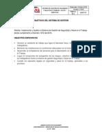 SGSST-03 Objetivos Del Sistema de Gestion de Seguridad y Salud en El Trabajo