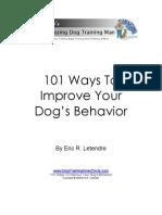 101 Ways to Improve Your Dogs Behavior