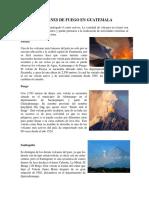 Volcanes de Fuego en Guatemala