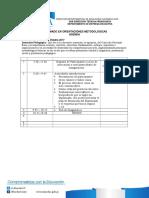 Agenda Diplomado Orientaciones Metodologicas