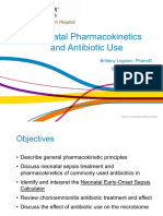 PQCNC ASNS Learning Session - Neonatal Pharmacokinetics and Antibiotic Use
