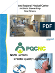 PQCNC ASNS Learning Session - Caromont Antibiotic Stewardship Case Review