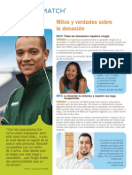 Donation Myths Facts - Spanish (PDF)
