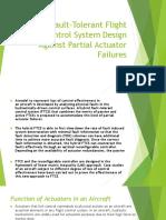 Hybrid Fault-Tolerant Flight Control System Design PPT