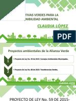 Proyectos de Ley Consejos Ambientales y Transferencias Verdes 1er Debate