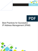 Infoblox White Paper Best Practices for Sucessful Ip Address Management