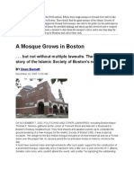 The Mosque that was built in Boston