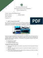 Deber 1 - Transporte Intermodal, Barcos Panamax y via Apia