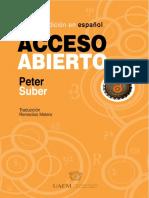 Acceso Abiero (Peter Suber)