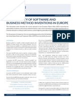 Patentability of Software and Business Method Inventions in Europe