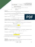 Corrección primer parcial Cálculo III (Ecuaciones diferenciales) 3 de octubre de 2017