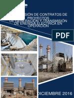 Proyectos Generacion Transmision Electrica O Peracion Diciembre 2016