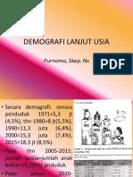Demografi Lanjut Usia Pertemuan 1