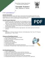 forensic science syllabus 2017-2018