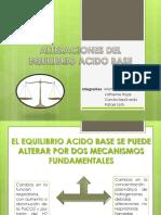 Alteraciones de Equilibrio Acido- Base