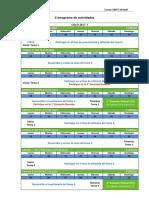 CT Cronograma de Actividades 2017 I