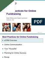 5 Convio Best Practices for Online Fundraising