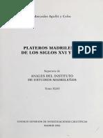 Plateros Madrileños Siglos XVI y XVII