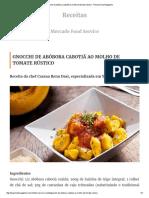 Gnocchi de Abóbora Cabotiã Ao Molho de Tomate Rústico - Revista Food Magazine