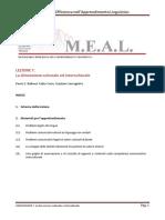 MEAL Dispensa Lezione 7