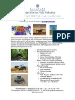 Fall 2017 Field Robotics Course Announcement