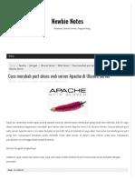 Cara Merubah Port Akses Web Server Apache Di Ubuntu Server