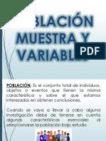 Población, Muestra y Variables