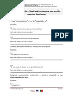 Ficha de Trabalho ASSERTIVIDADE
