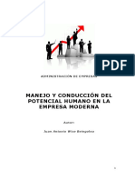 305840364 Monografia Manejo y Conduccion Del Potencial Humano en La Empresa Moderna