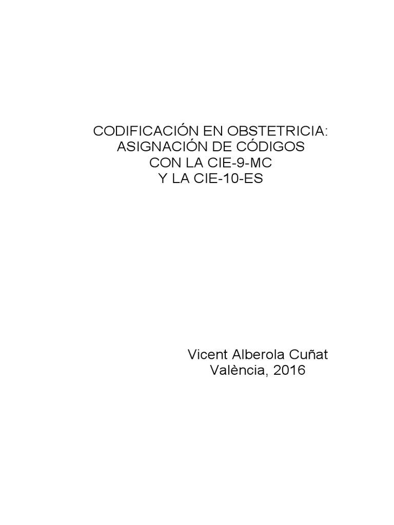 Codificacion Cie 10 - Obstetricia_2016
