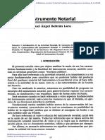 El Instrumento Notarial