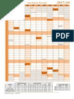 Calendario 2017 18 Mapa