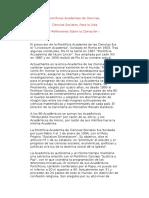 Pontificias Academias de CienciasClonacion