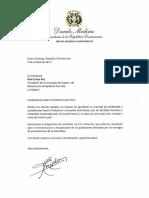 Danilo Medina agradece expresiones de solidaridad con el país por paso huracanes Irma y María