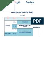 Planning - Formation MKPE T077