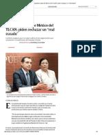"""05-10-17 Respaldan Salida de México Del TLCAN; Piden Rechazar Un """"Mal Tratado"""""""