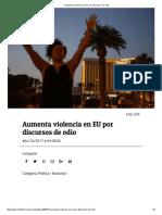 04-10-17 Aumenta Violencia en EU Por Discursos de Odio