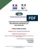 AFPS Guide Technique 2007 Construction Parasismique Paracyclonique Maisons Individuelles Bois Antilles Version 2007