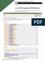 APORTE_ Obtener El CURP Mediante PHP (México) - Foros Del Web