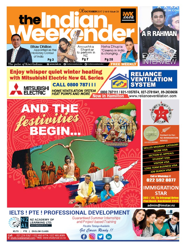 Indian Weekender 6 October 2017 | Consul (Representative) | New Zealand