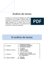análisis de tareas