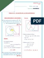 SemestraL 10 II 02 GEO an Ecuacion Circunferencia Solucionario