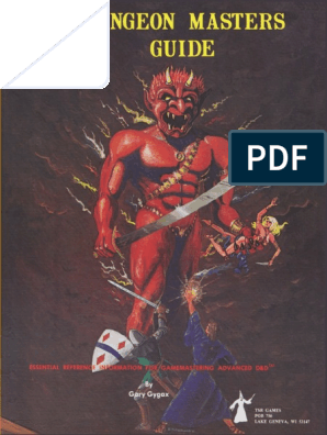 AD&D 1st Edition - Dungeon Master's Guide (Original Cover