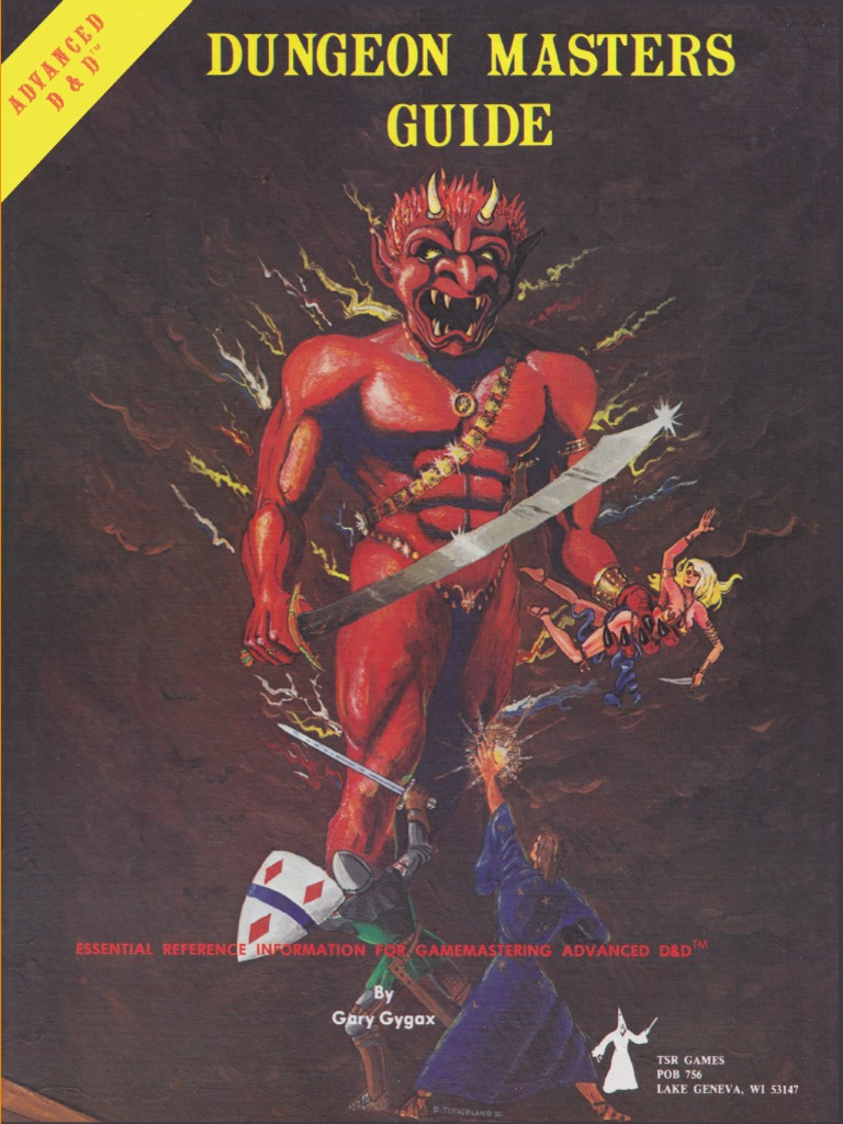 AD&D 1st Edition - Dungeon Master's Guide (Original Cover).pdf ...