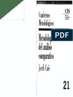 Cais-metodolos de Analisis Comparativo