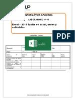 Lab-08-Excel-2013-Tablas en Excel, Orden y Subtotales 2