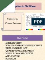Absroption in EM Waves